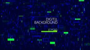 Абстрактная цифровая геометрическая предпосылка Яркий хаос данным по цвета Небольшое затруднение и дефект и искажение шума Стоковая Фотография RF