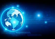 Абстрактная цифровая глобальная технология, абстрактная предпосылка Стоковое Фото