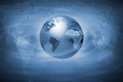 абстрактная цифровая земля пропускает над отсчетом Стоковые Фото