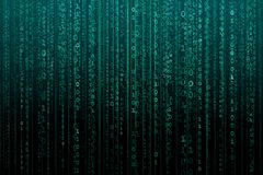 Абстрактная цифровая предпосылка с бинарным кодом Хакеры, darknet, виртуальная реальность и научная фантастика стоковое фото