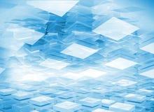 Абстрактная цифровая предпосылка 3d с голубыми коробками Стоковое Фото
