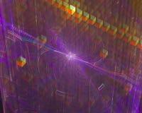 Абстрактная цифровая фракталь, динамика творческих способностей влия иллюстрация штока