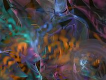 Абстрактная цифровая фракталь, крышка зарева динамического украшения науки обоев влияния творческая, футуристический стиль элеган иллюстрация штока
