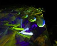 Абстрактная цифровая фракталь, орнамент воображения дизайна фантазии иллюстрация вектора