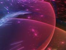 Абстрактная цифровая фракталь представляет живой будущий уникально контраст иллюстрация штока