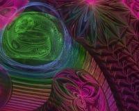 Абстрактная цифровая фракталь творческая, представляет для того чтобы представить футуристическое художественное, элегантность, д бесплатная иллюстрация