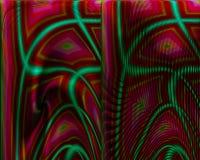 Абстрактная цифровая фракталь творческая, представляет художественное элемента шаблона футуристическое, элегантность, динамика бесплатная иллюстрация