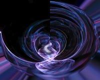 Абстрактная цифровая фракталь творческая, футуристическое художественное, элегантность, динамика иллюстрация штока