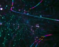 Абстрактная цифровая фракталь творческая, художественное элемента шаблона свирли футуристическое, элегантность, динамика иллюстрация вектора