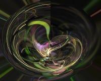 Абстрактная цифровая фракталь творческая, элемента шаблона пламени художественное декоративного футуристическое, элегантность, ди иллюстрация штока