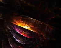 Абстрактная цифровая элегантность карты влияния фрактали, динамика бесплатная иллюстрация