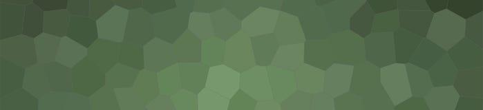 Абстрактная цифров произведенная иллюстрация предпосылки знамени шестиугольника размера темного зеленого цвета джунглей пастельно иллюстрация штока