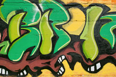 абстрактная частность надписи на стенах Стоковая Фотография