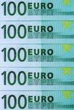 Абстрактная часть банкнота 100 евро Стоковые Изображения RF