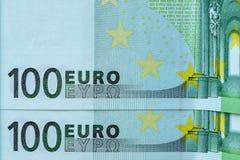 Абстрактная часть банкнота 100 евро Стоковое Изображение