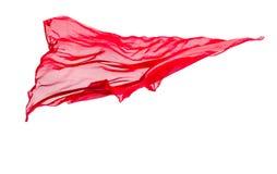Абстрактная часть красного летания ткани стоковая фотография rf