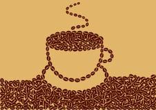 Абстрактная чашка кофе Стоковое фото RF
