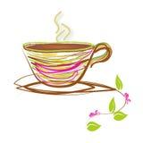 Абстрактная чашка с зеленым чаем Стоковая Фотография