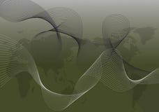 абстрактная черная белизна закрутки карты Стоковые Изображения RF