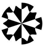 абстрактная черная белизна Стоковые Изображения