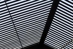 Абстрактная черная & белая предпосылка крыши Стоковое Изображение RF