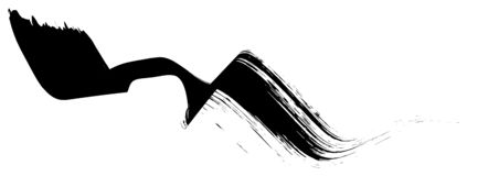 Абстрактная черная нашивка paintbrush ровно согнула форму ленты геометрическую стоковое фото rf