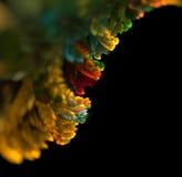 Абстрактная черная покрашенная предпосылка с multi - желтый цвет, зеленый Стоковые Фотографии RF