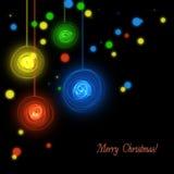 Абстрактная черная предпосылка рождества Стоковое Изображение