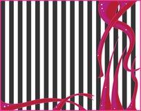 абстрактная черная розовая белизна Стоковое фото RF