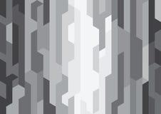 Абстрактная черная современная предпосылка формы Стоковая Фотография RF