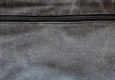 Абстрактная черная текстура ткани демикотона Стоковые Изображения RF