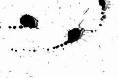 Абстрактная чернота брызгает Стоковое Изображение