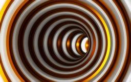 Абстрактная чернота и предпосылка золота геометрическая 3d представляют Стоковые Изображения