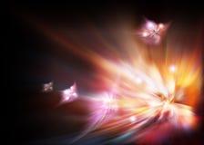 абстрактная чернота предпосылки светящая Стоковое Изображение RF