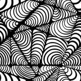 Абстрактная черно-белая безшовная картина иллюстрация штока
