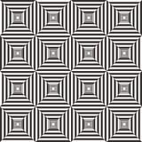 Абстрактная черно-белая геометрическая предпосылка картины Стоковая Фотография RF