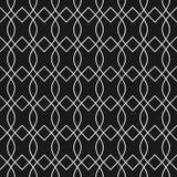 Абстрактная черно-белая безшовная картина Стоковое Фото