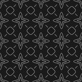 Абстрактная черно-белая безшовная картина Стоковое Изображение RF