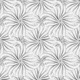 Абстрактная черно-белая безшовная картина Стоковые Изображения