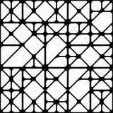 Абстрактная черно-белая безшовная предпосылка линий Стоковое Фото