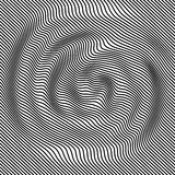 Абстрактная черно-белая волнистая предпосылка вектора нашивок EPS10 Стоковая Фотография RF