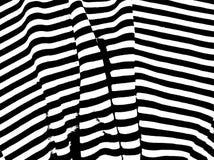 Абстрактная черно-белая картина с линиями сложной формы и штриховатостями Стоковая Фотография RF