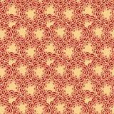 Абстрактная чувствительная безшовная картина предпосылки с стилизованной подачей Стоковые Изображения RF