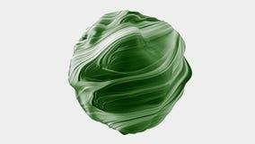 Абстрактная шаровидная сфера со свирлями сток-видео