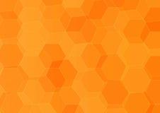 Абстрактная шестиугольная оранжевая предпосылка Стоковые Изображения RF