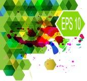 Абстрактная шестиугольная multicolor иллюстрация вектора Иллюстрация вектора