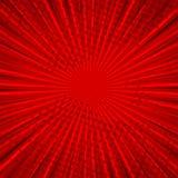Абстрактная шуточная красная предпосылка для дизайна искусства шипучки стиля Ретро фон шаблона взрыва Влияние световых лучей иллюстрация штока