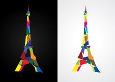 абстрактная Эйфелева башня иллюстрация вектора