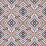 Абстрактная этническая безшовная геометрическая картина Стоковые Изображения