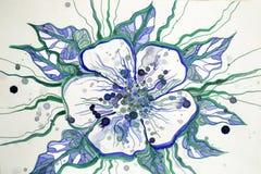 Абстрактная яркая красивая картина цветка Стоковая Фотография